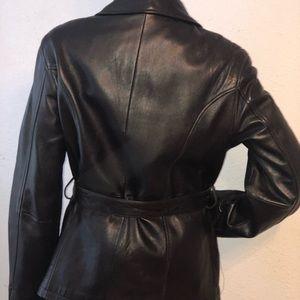 Valerie Stevens Jackets & Coats - Valerie Stevens Lambskin Black Leather Jacket